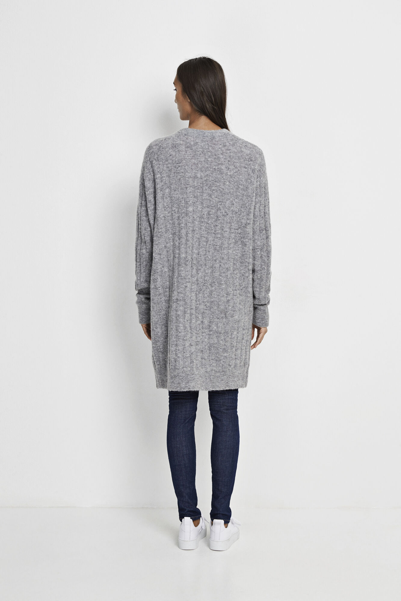 Nor cardigan 7668, GREY MEL.