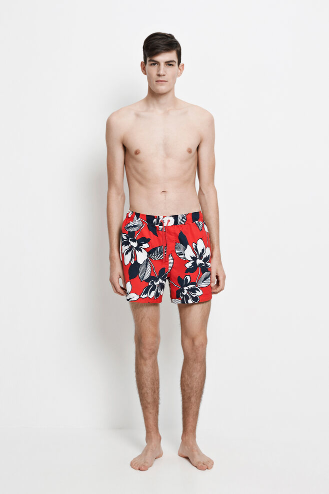 Mason swim shorts aop 6956, RED MAUI AOP
