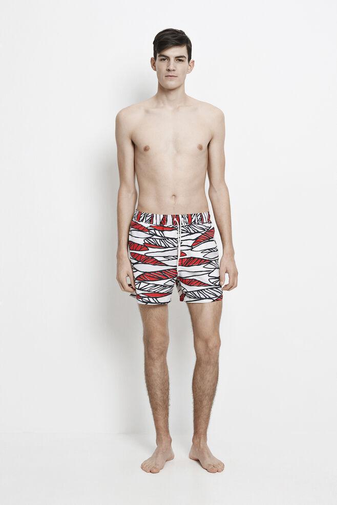 Mason swim shorts aop 6956, RED MIKADO AOP