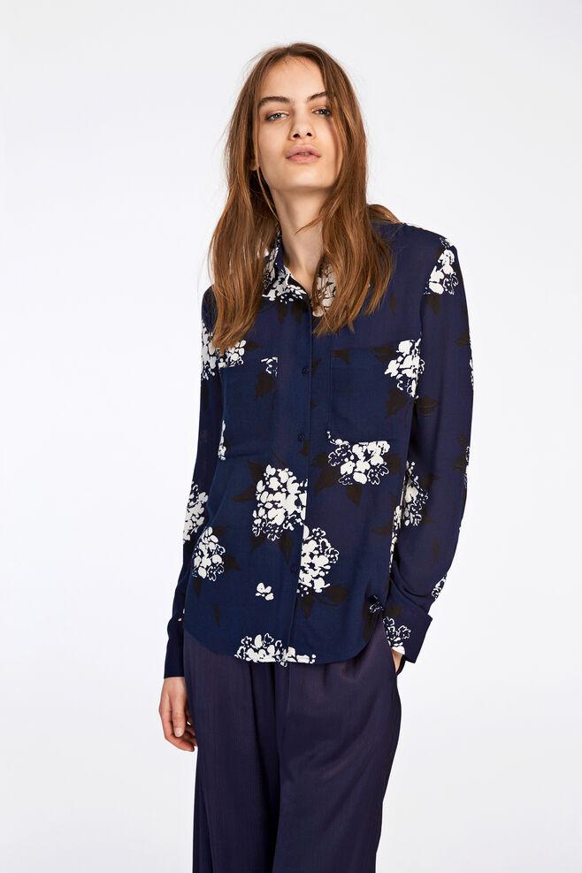 Milly shirt aop 7201, FLORASION BLEU