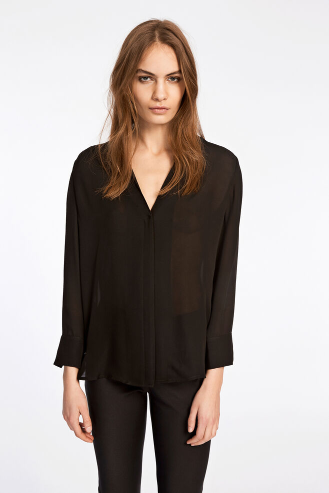Whitney shirt 6434, BLACK