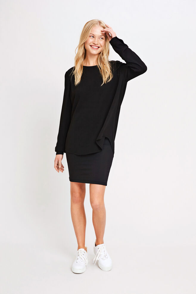 Theta blouse 5687, BLACK