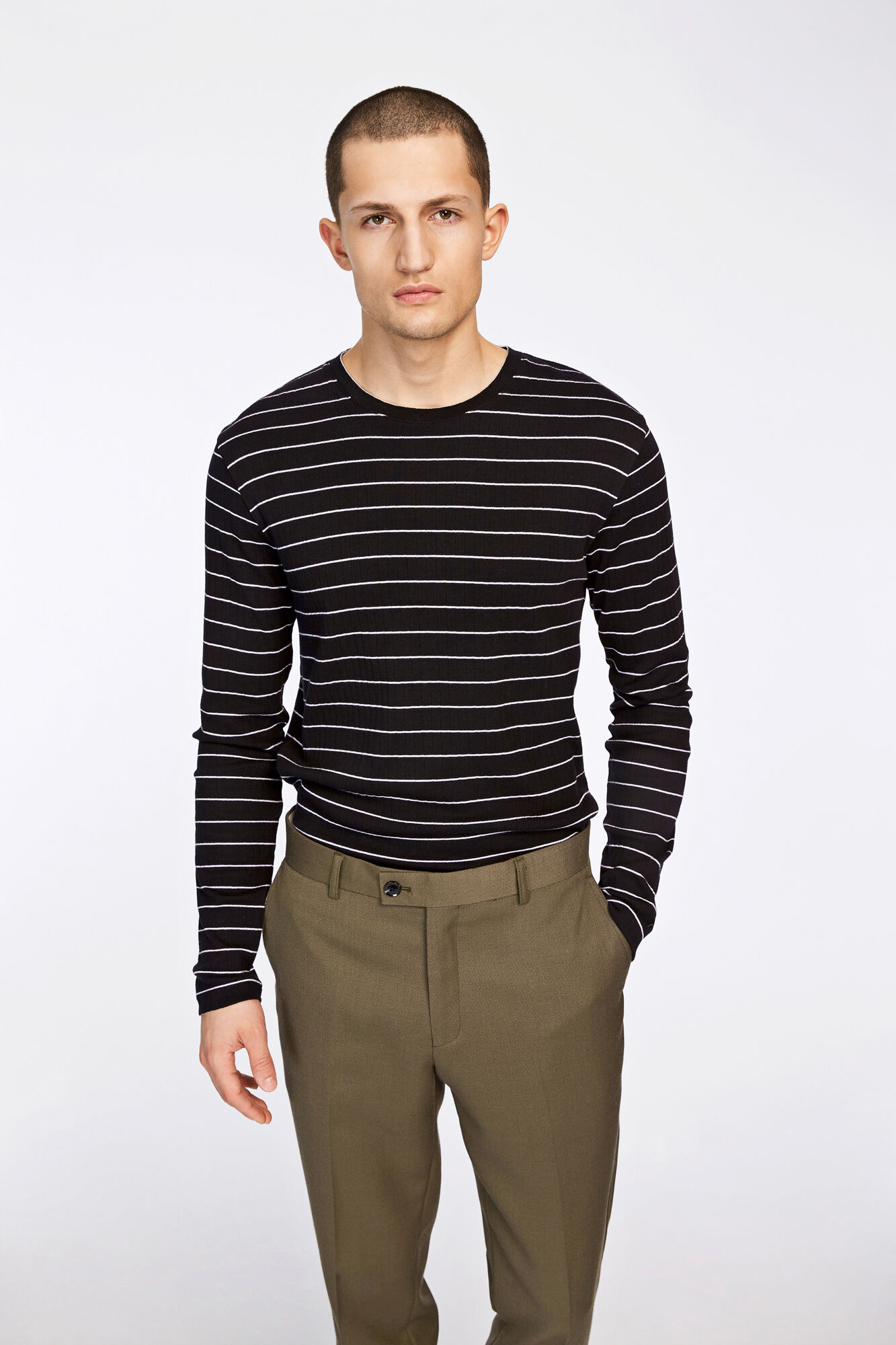 Grays stripe o-n ls 7591, BLACK ST