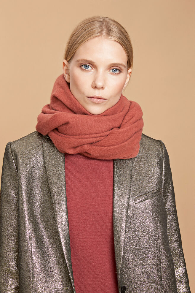 Accola maxi scarf 2862, APPLE BUTTER