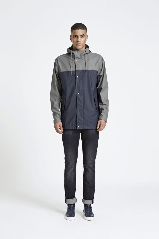 Drop jacket 7357, GREY BLUE