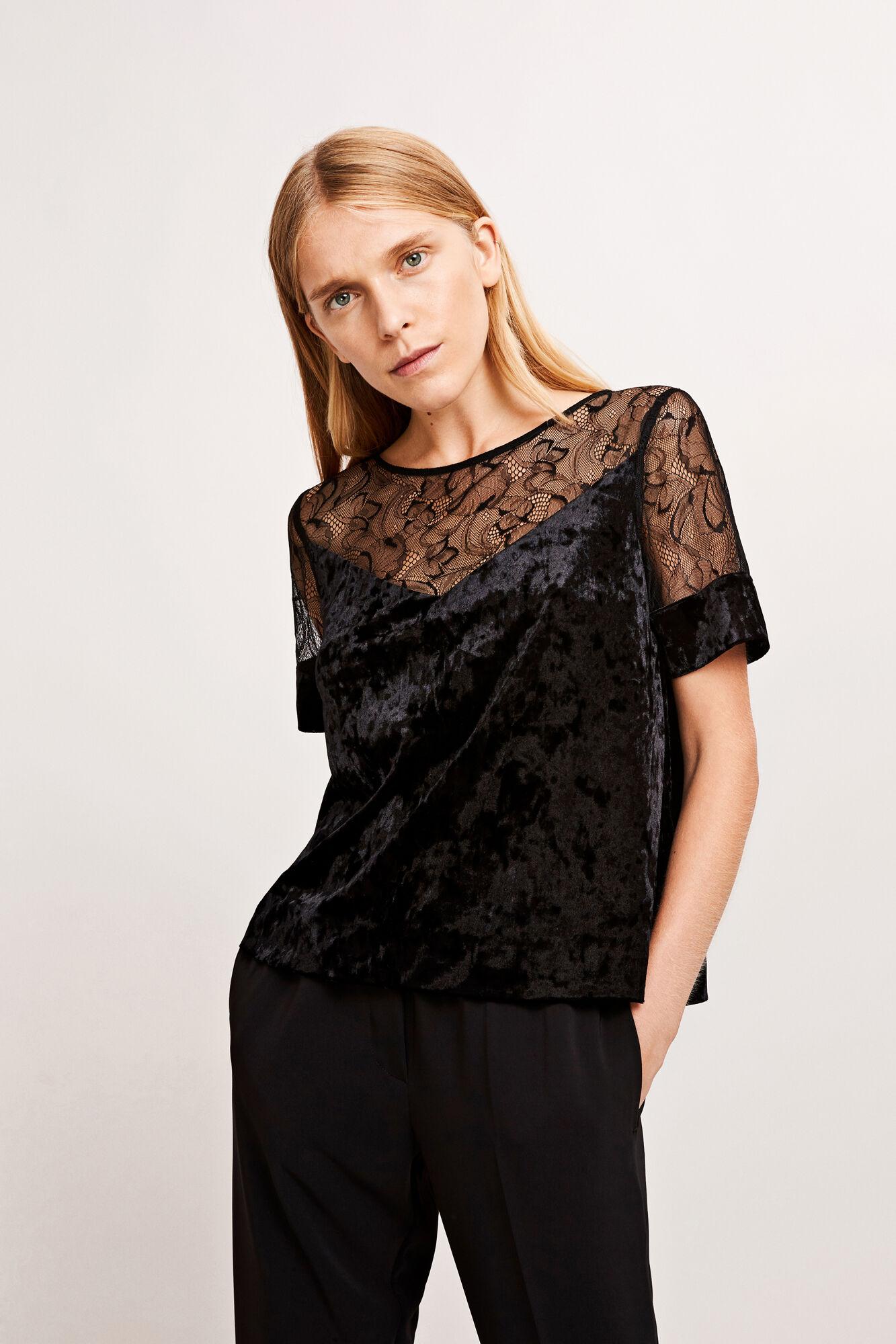 Biaf lace ss 7551, BLACK