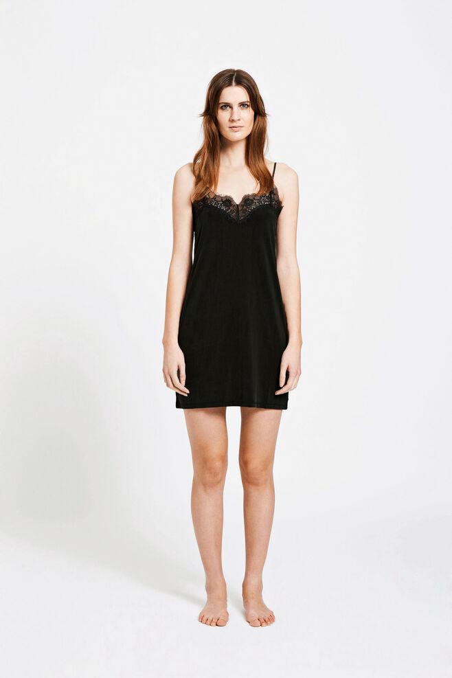 Slip dress 6202, BLACK