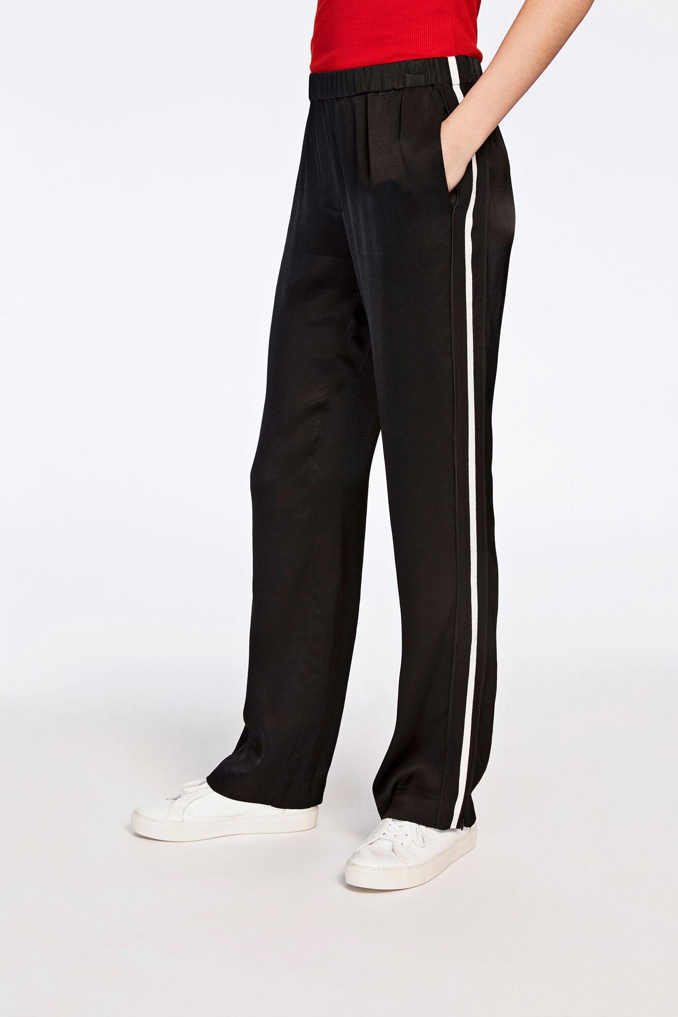 Hoys straight pants tape 7700, BLACK
