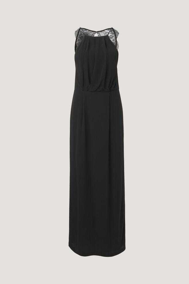 Willow dress long 5687, BLACK