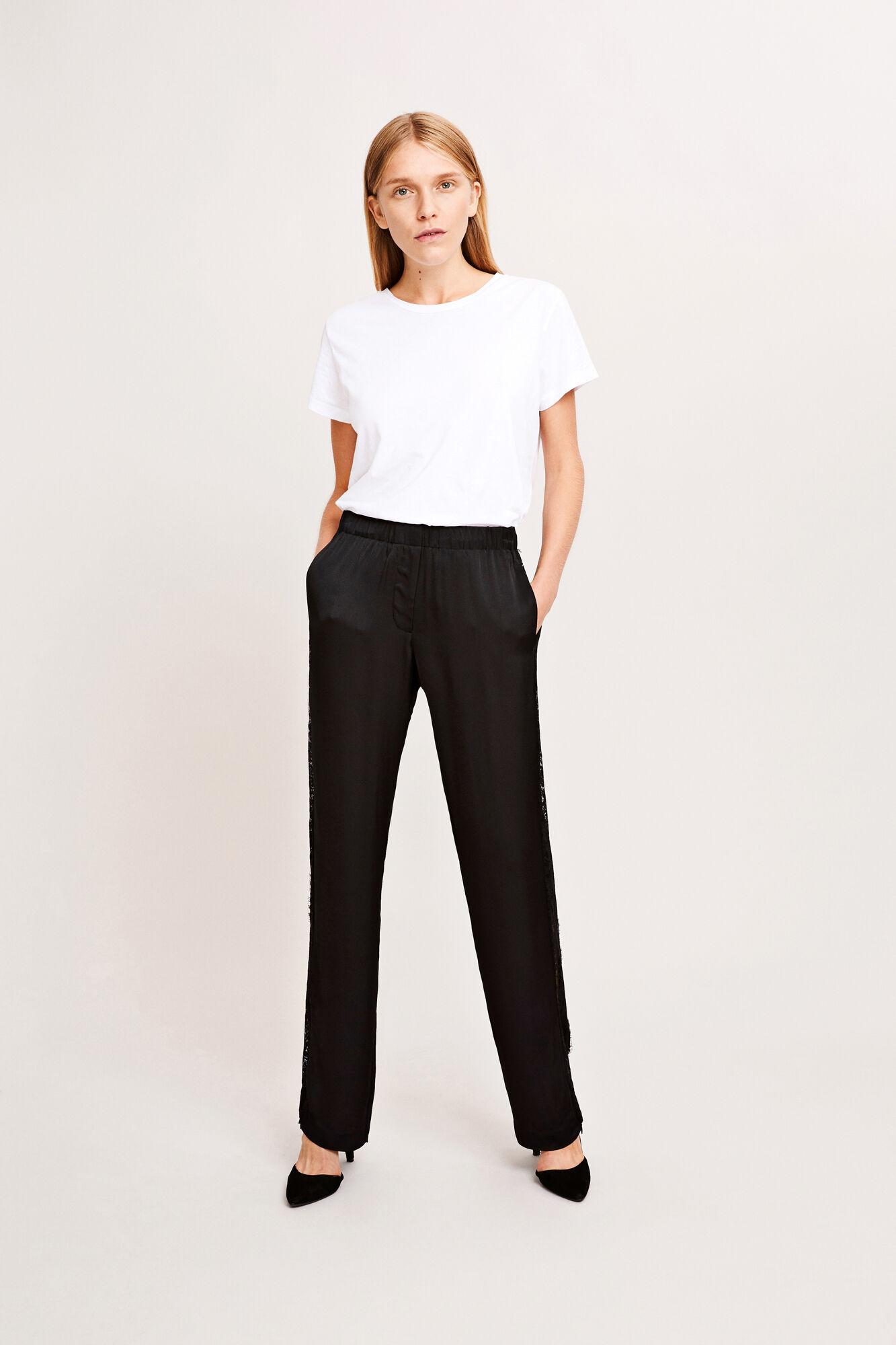 Hoys lace pants 7700, BLACK