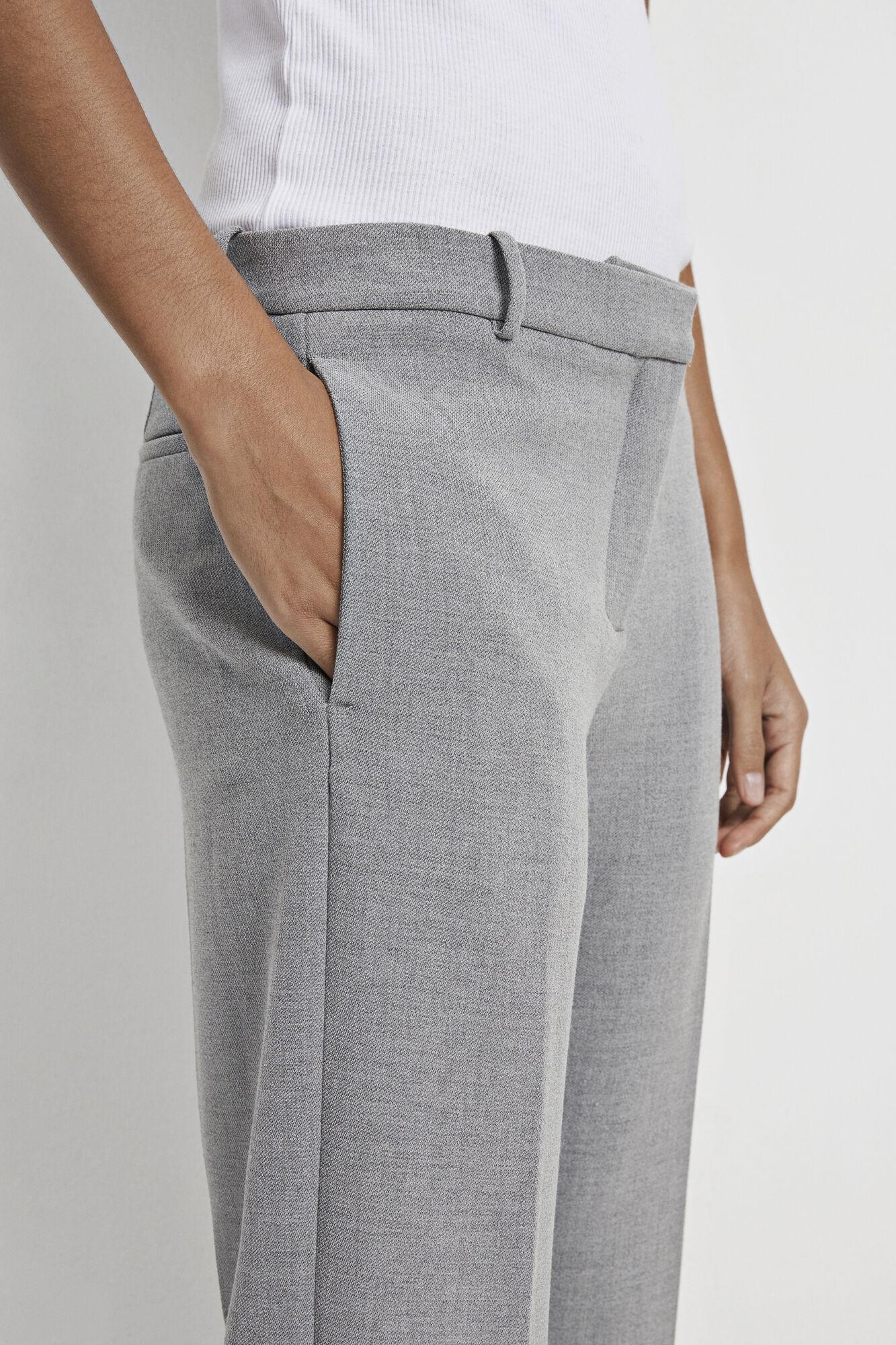 Louise crop pants 7615, GREY MEL.