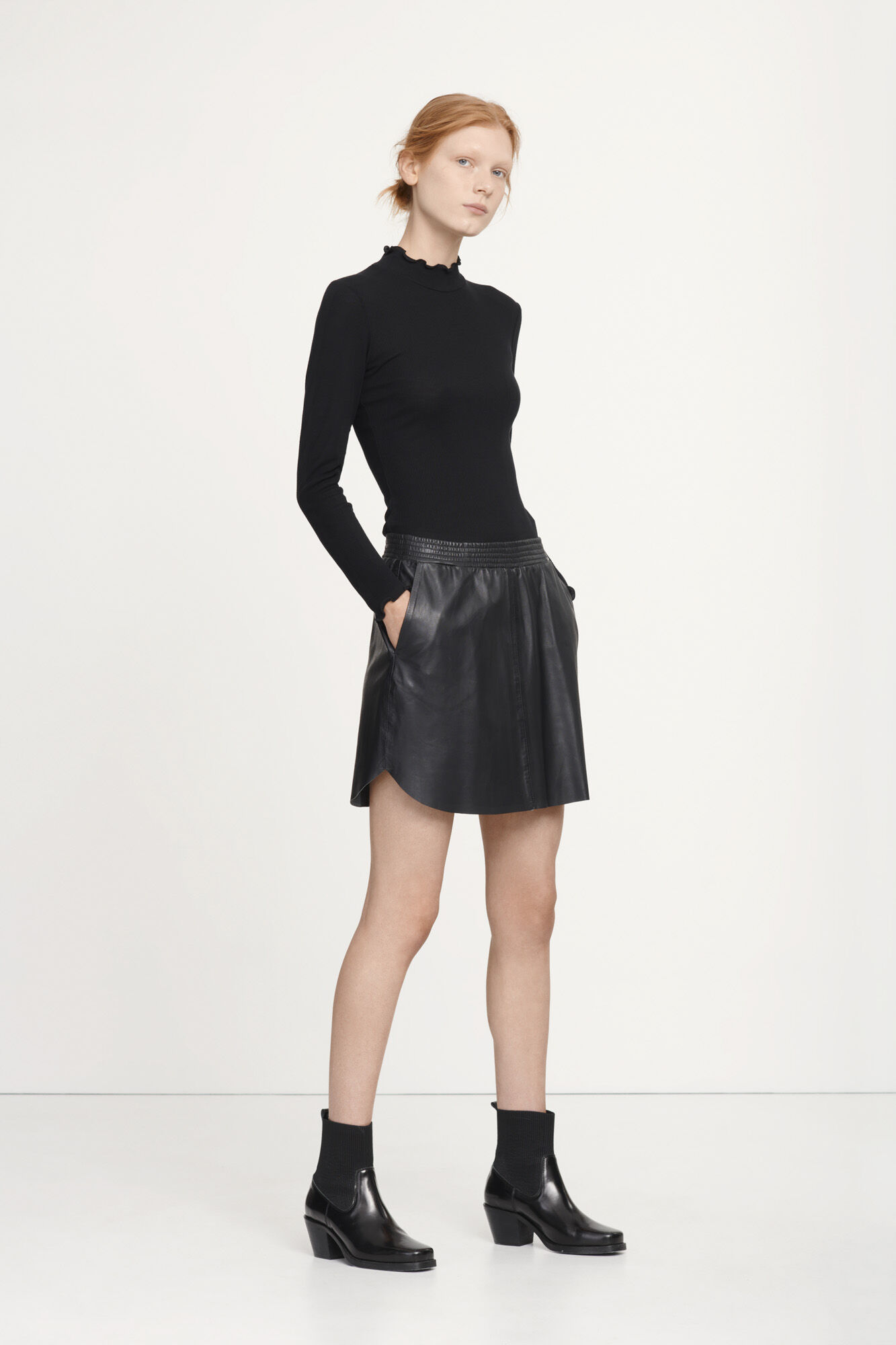 Miel skirt 7571, BLACK