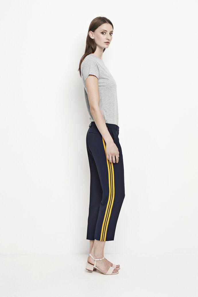 Louisa crop pants 6463, DARK SAPPHIRE