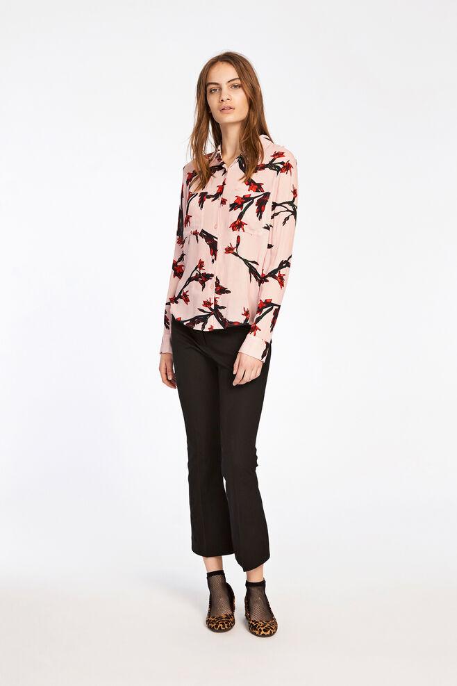 Milly shirt aop 7201, GLAIEUL ROSE