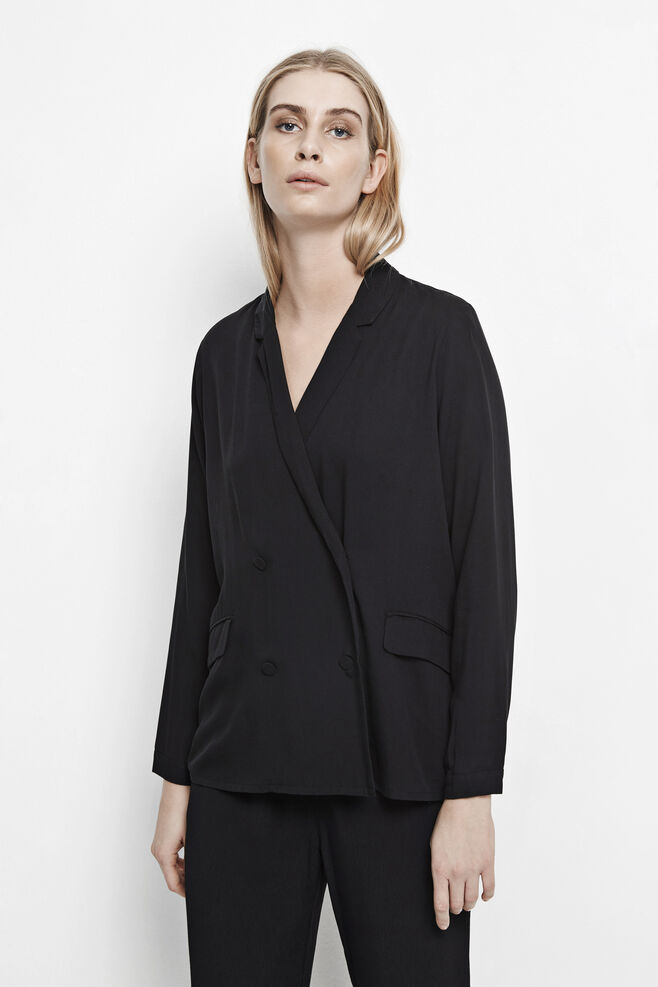 Leffy shirt 6942, BLACK