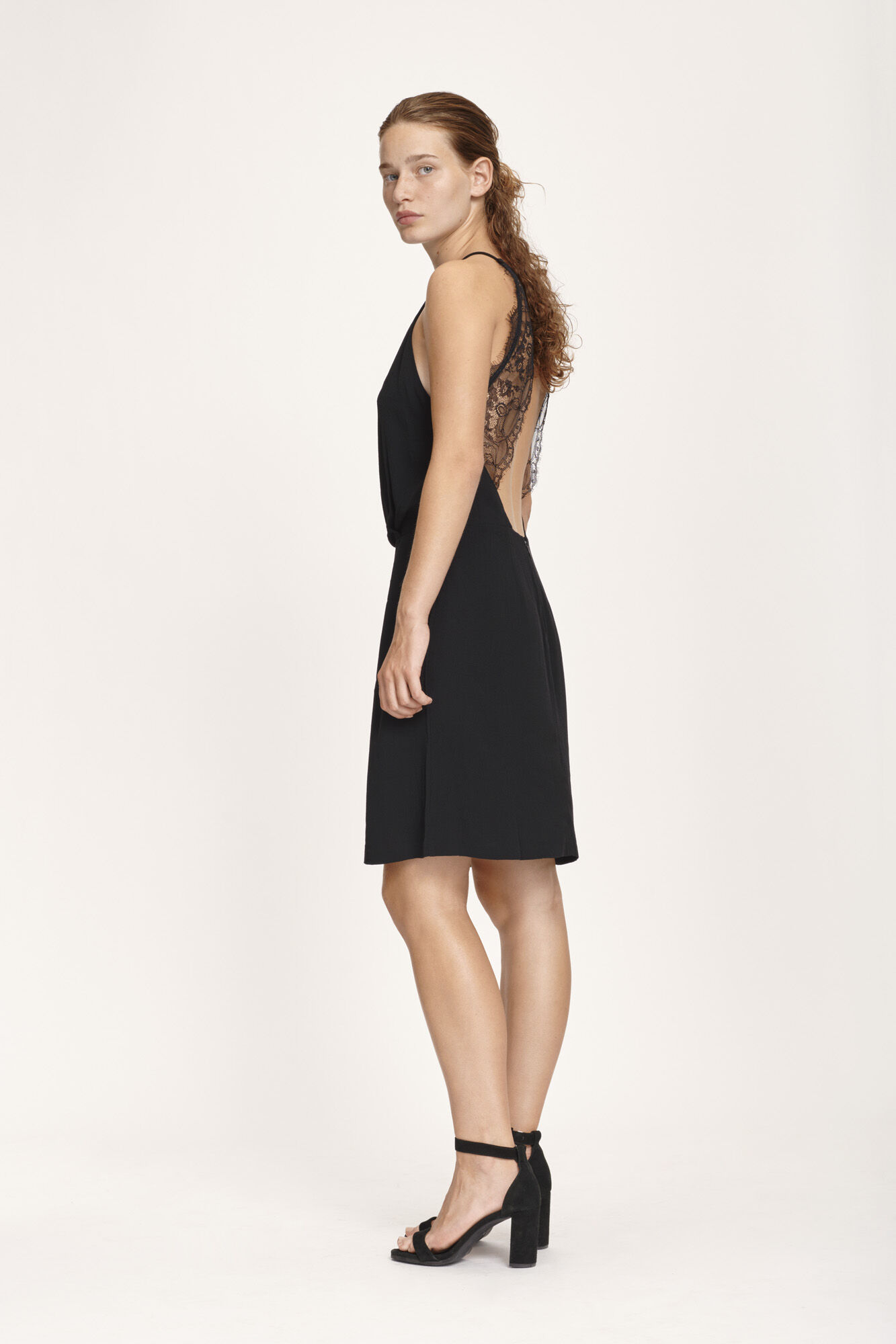 Willow short dress 5687, BLACK