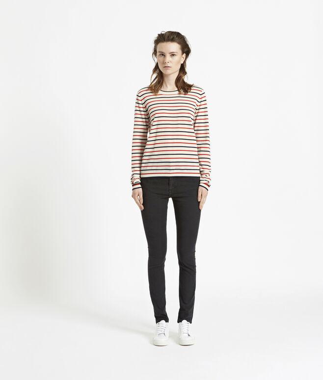 Sanella o-neck stripe 3111, REDBLUE