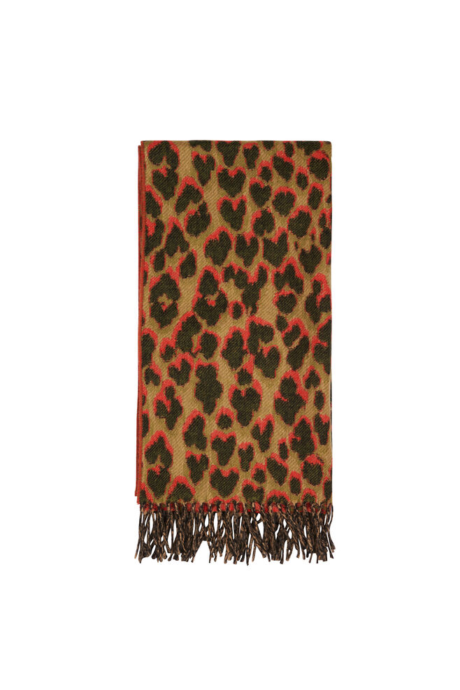 Accola scarf jac 9434, LEOPARD ROUGE