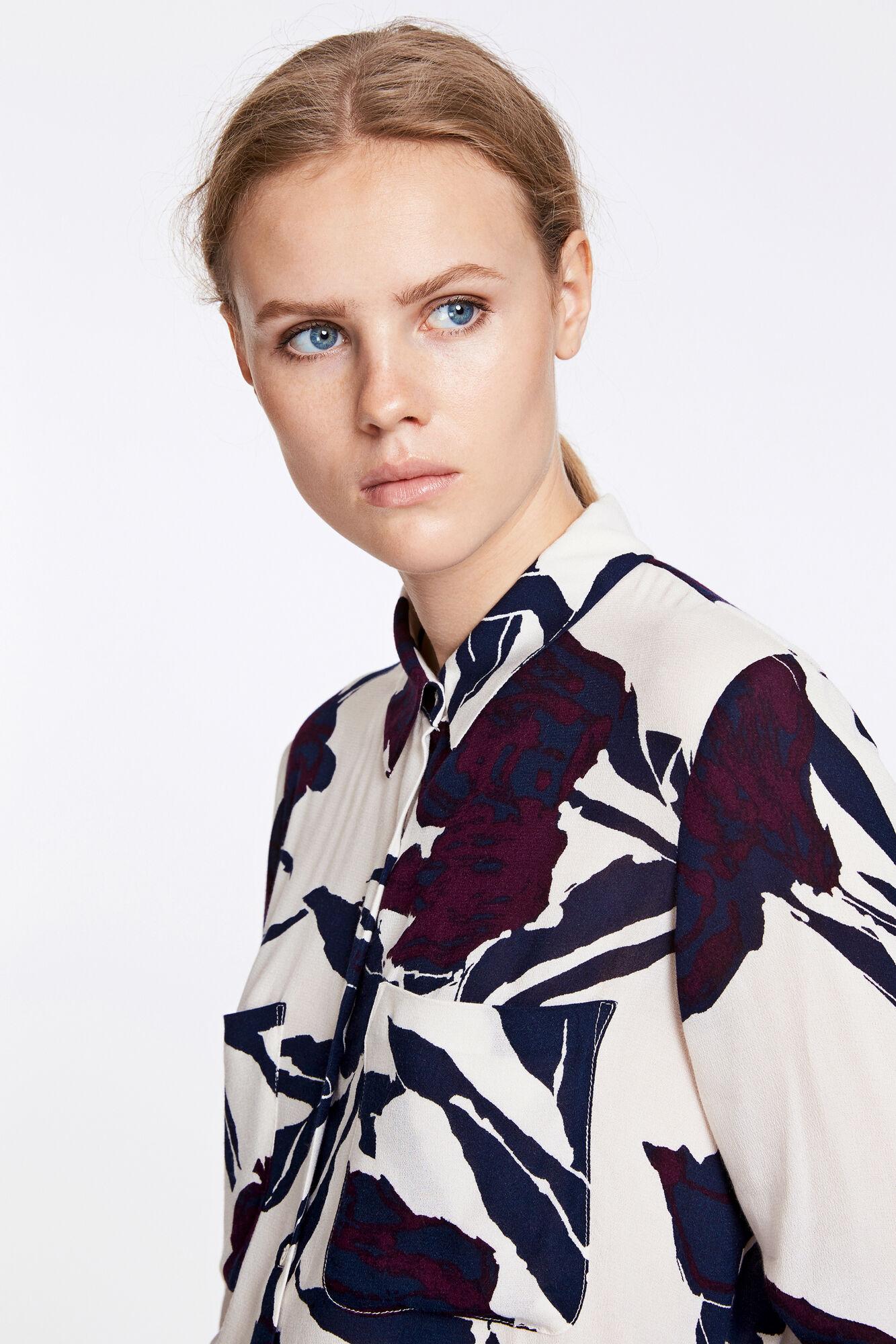 Milly shirt aop 7201, PAPIER FLEURIE