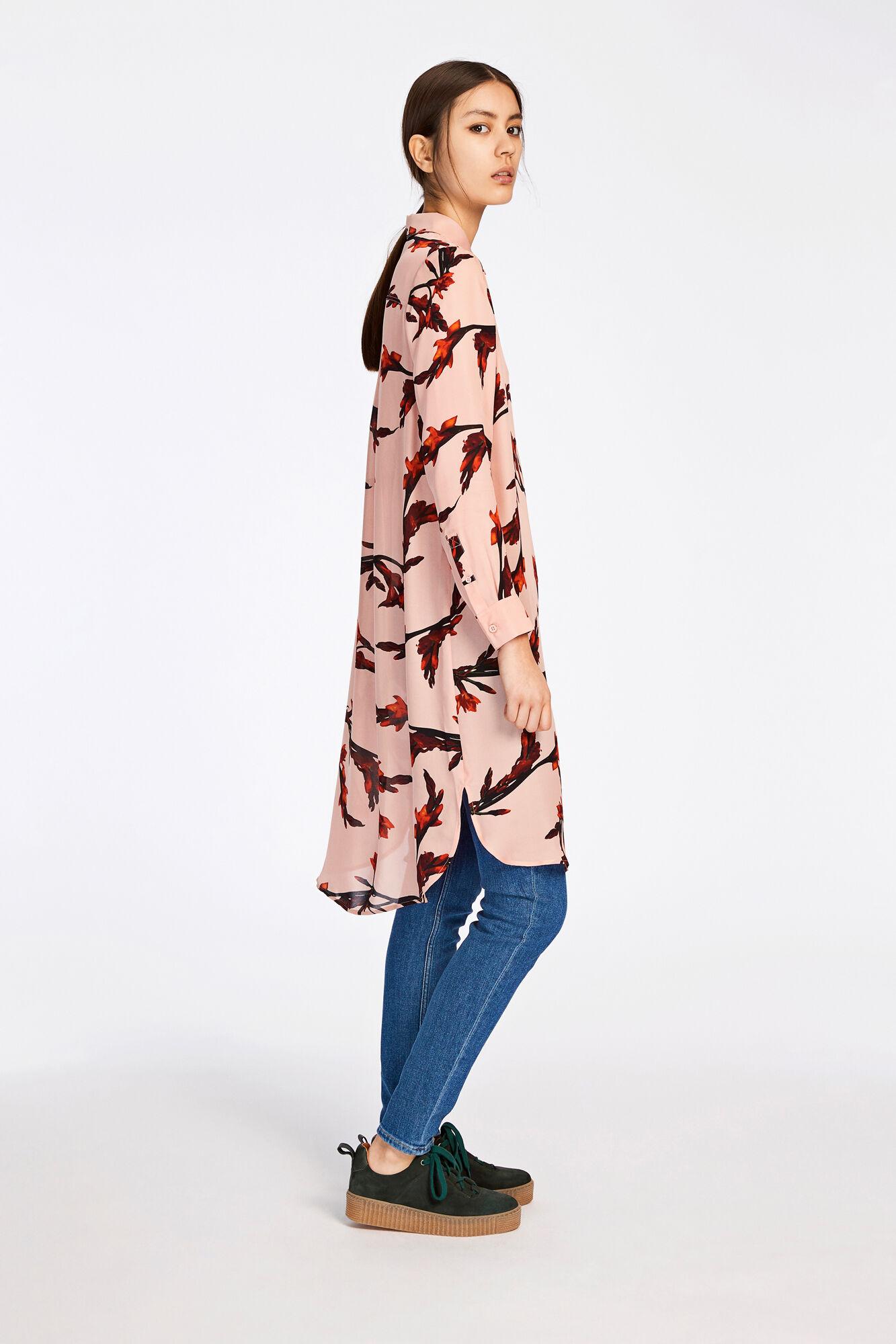 Charlene shirt dress aop 6434, GLAIEUL ROSE