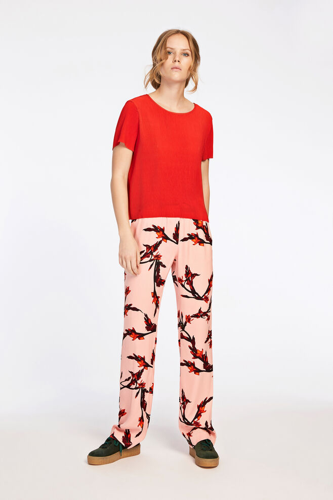Hoys straight pants aop 7700, GLAIEUL ROSE