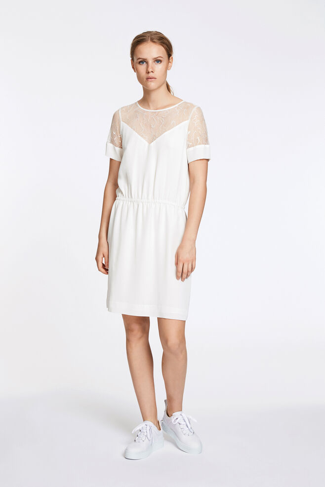 Biaf lace ss dress 6891, CLEAR CREAM