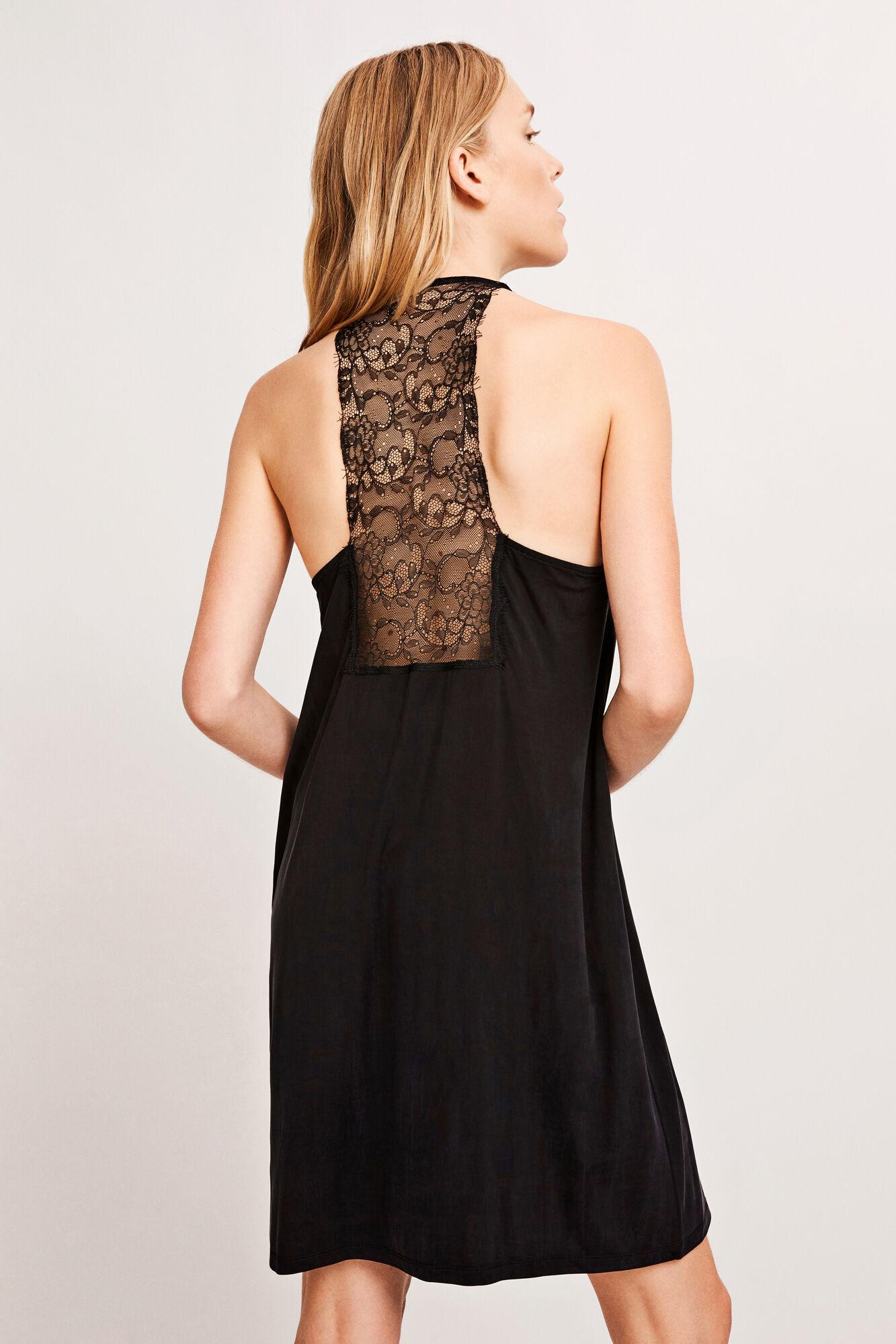 Slipin dress 6202, BLACK
