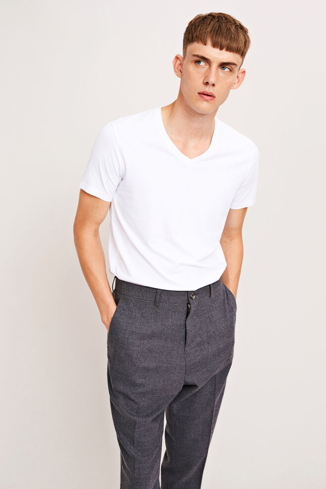 Marian male v-neck basic 273, WHITE