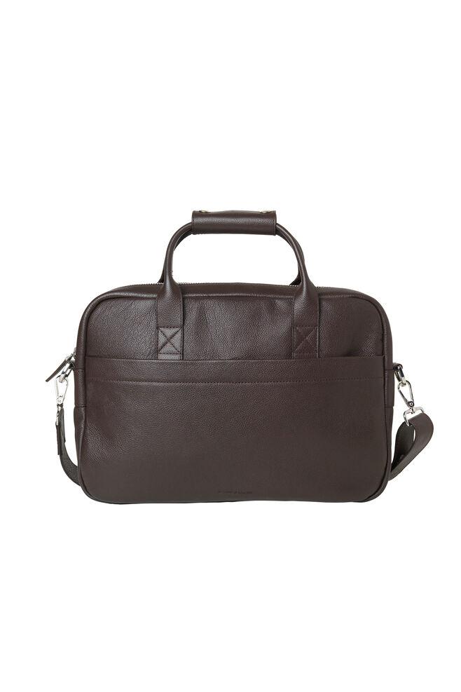 Miro Briefcase Single 3338, DARK BROWN