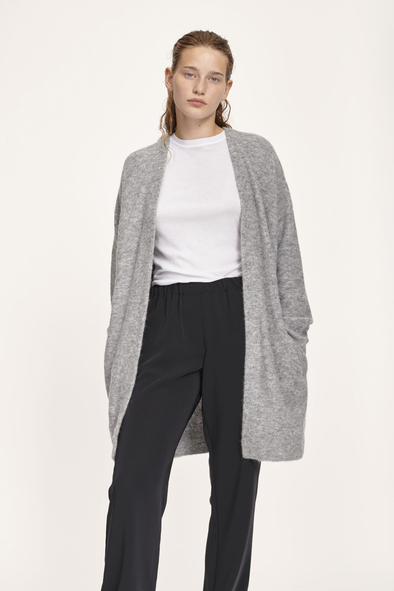 Nor cardigan 7355, GREY MEL.