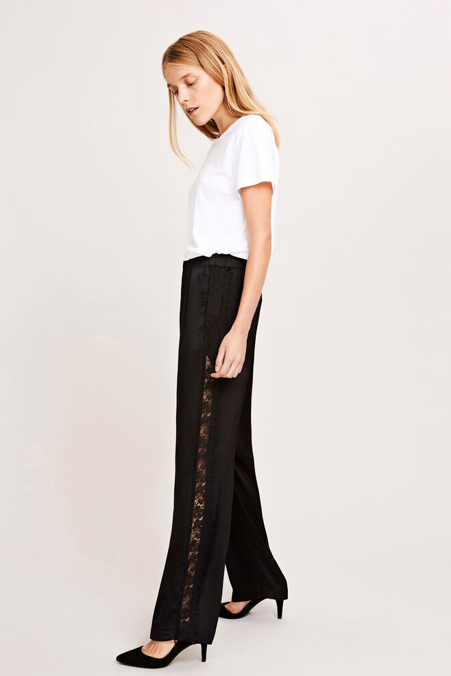 Hoys lace pants 7700, BLACK