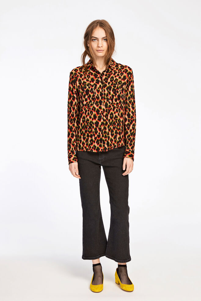 Milly shirt aop 7201, LEOPARD ROUGE