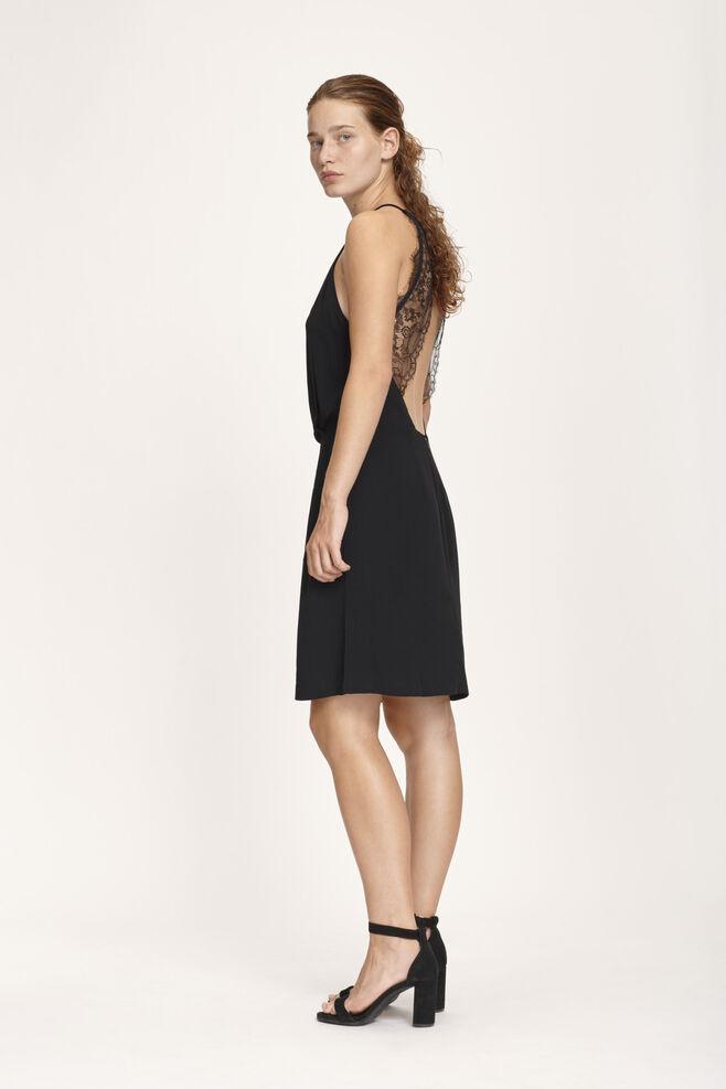 Willow short dress 5687, BLACK
