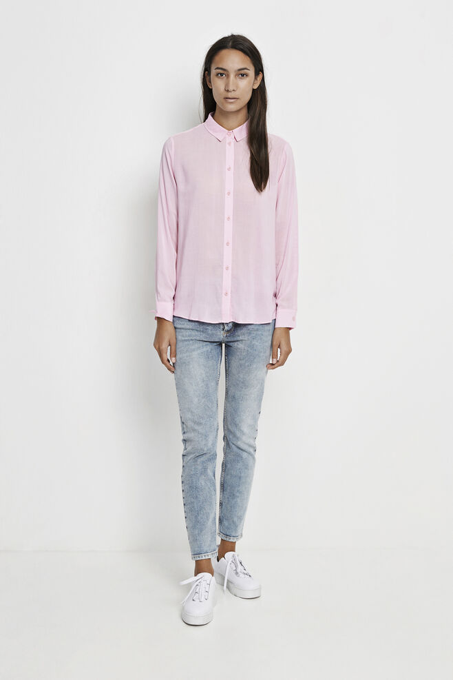 Maj ls shirt 3856, LILAC SACHET