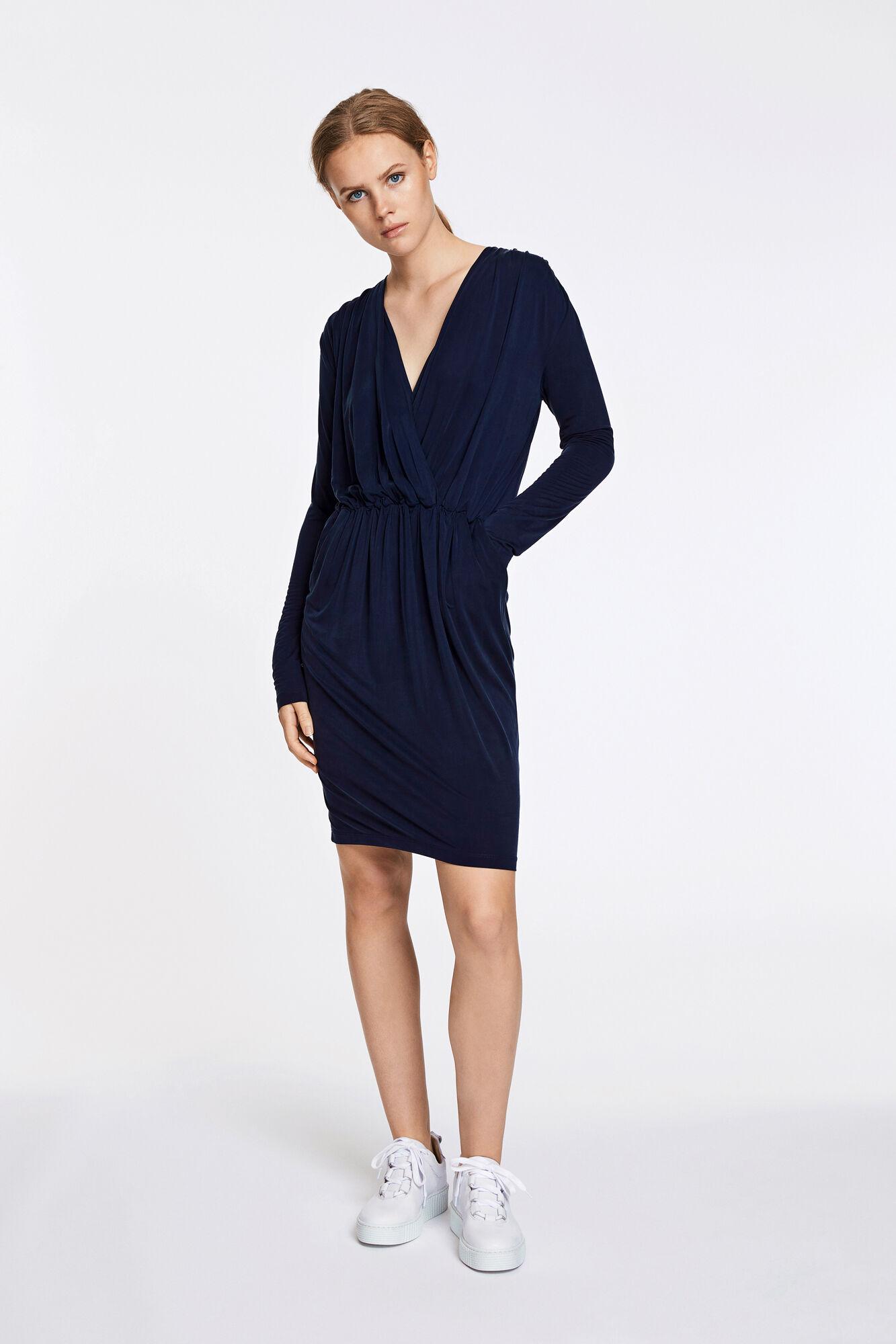 Trinny v-n dress 7551, DARK SAPPHIRE