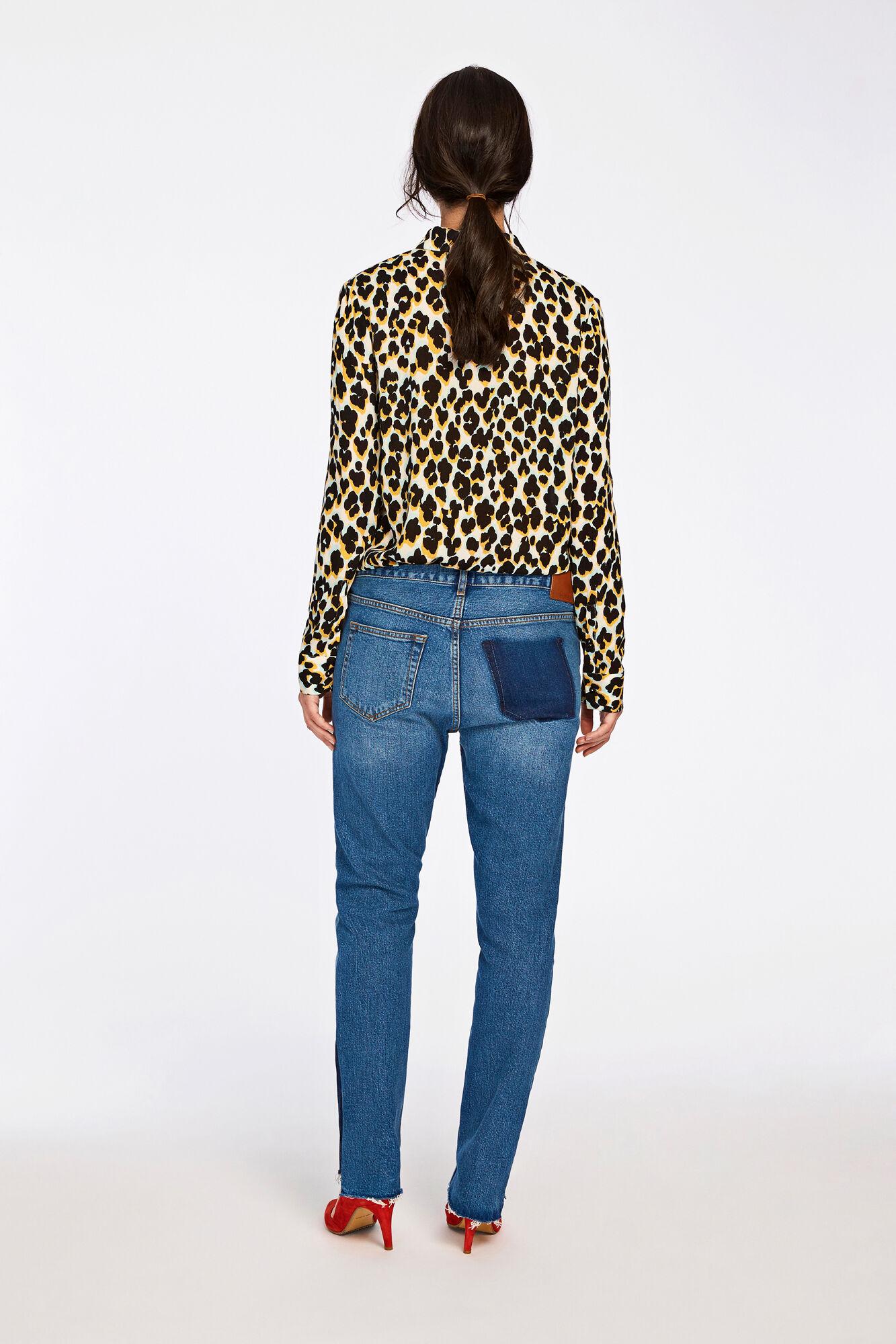 Milly shirt aop 7201, LEOPARD JAUNE