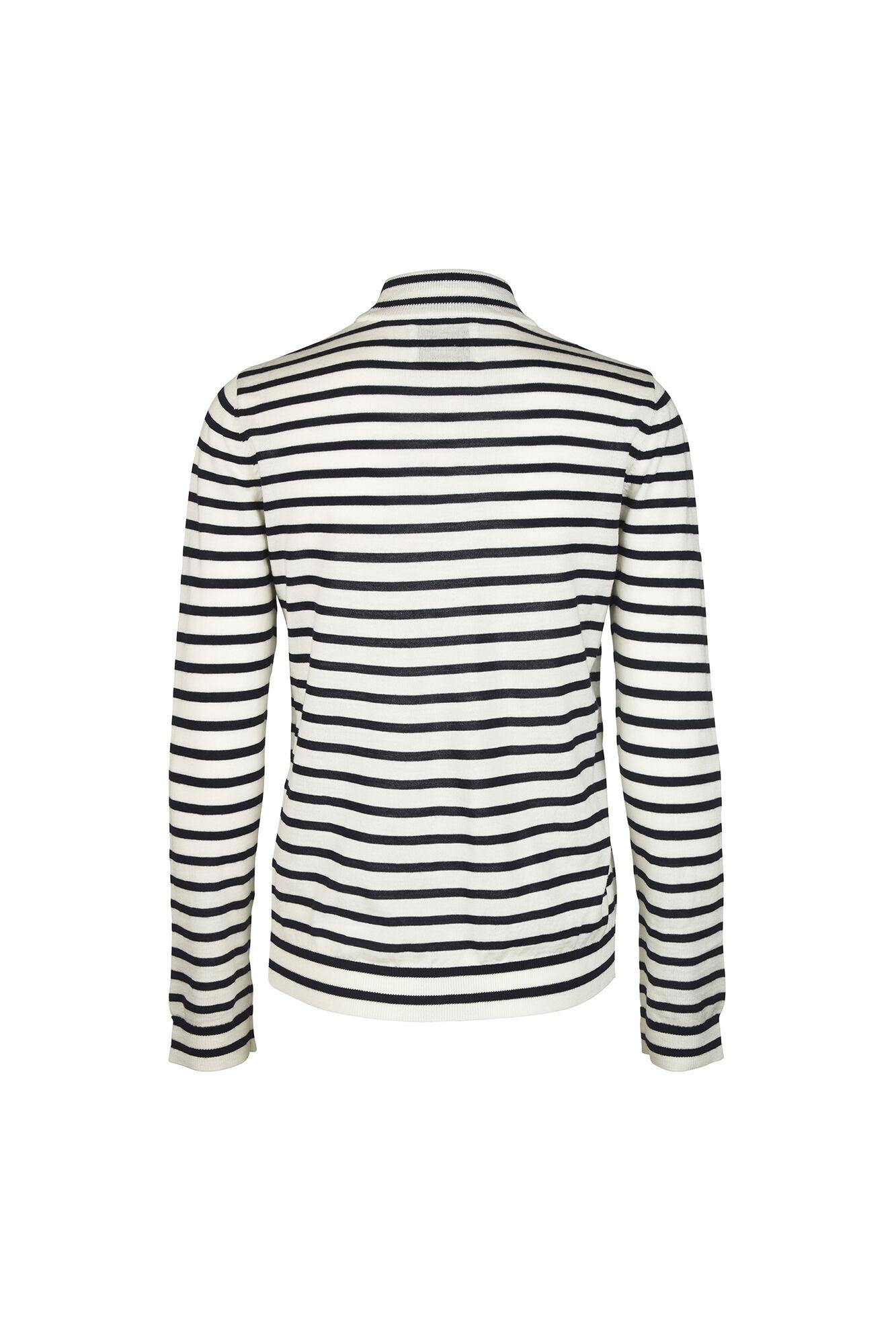 Sanella t-neck stripe 3111, BLUECREAM