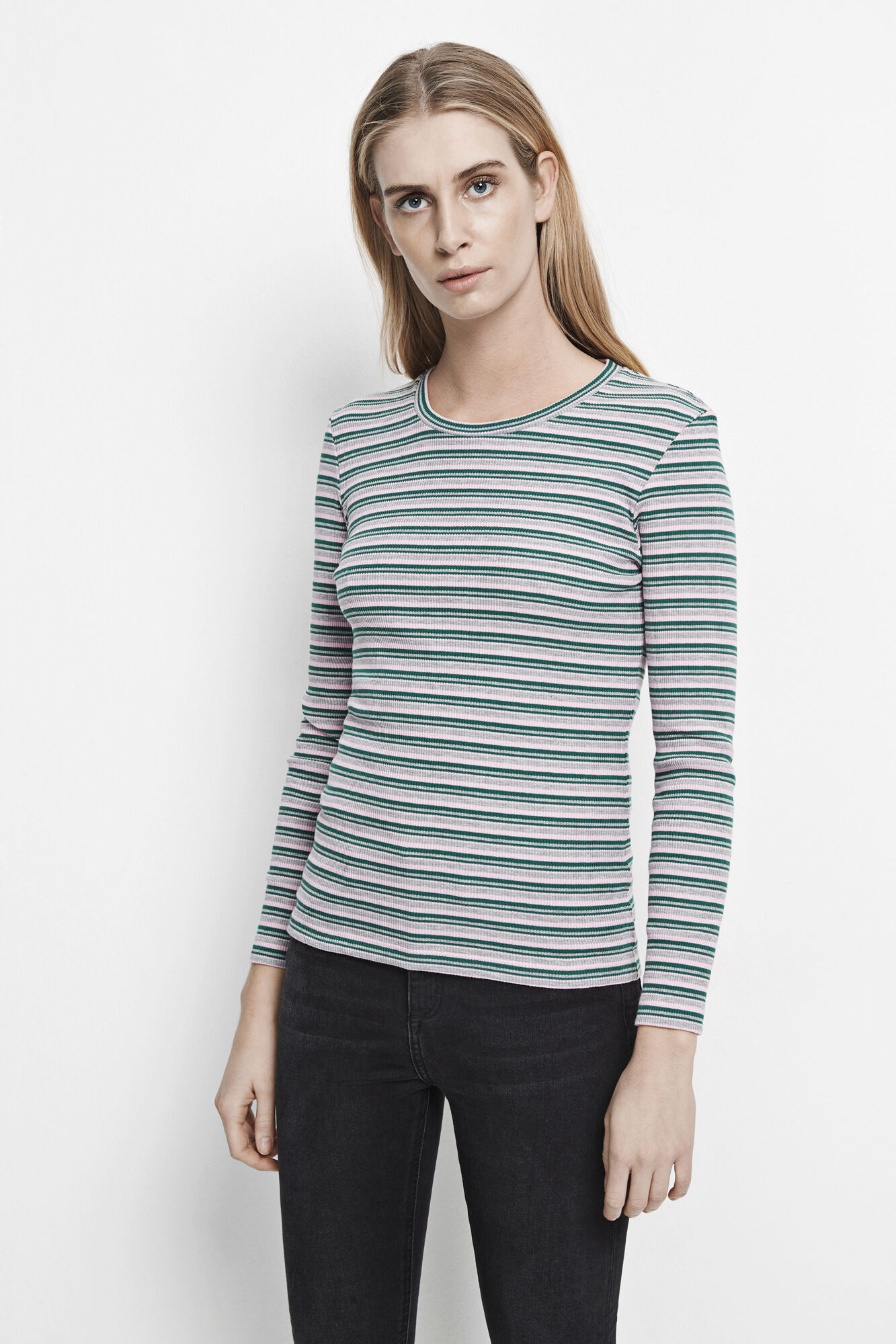 Neval o-n ls stripe 6384, LILAC GREEN ST