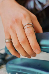 Emilie Wrap Ring 500350, SILVER HP