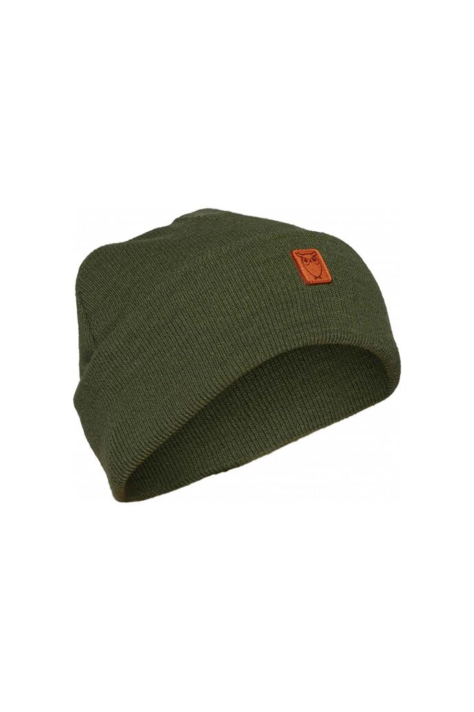 Beanie organic wool 82206, GREEN FOREST