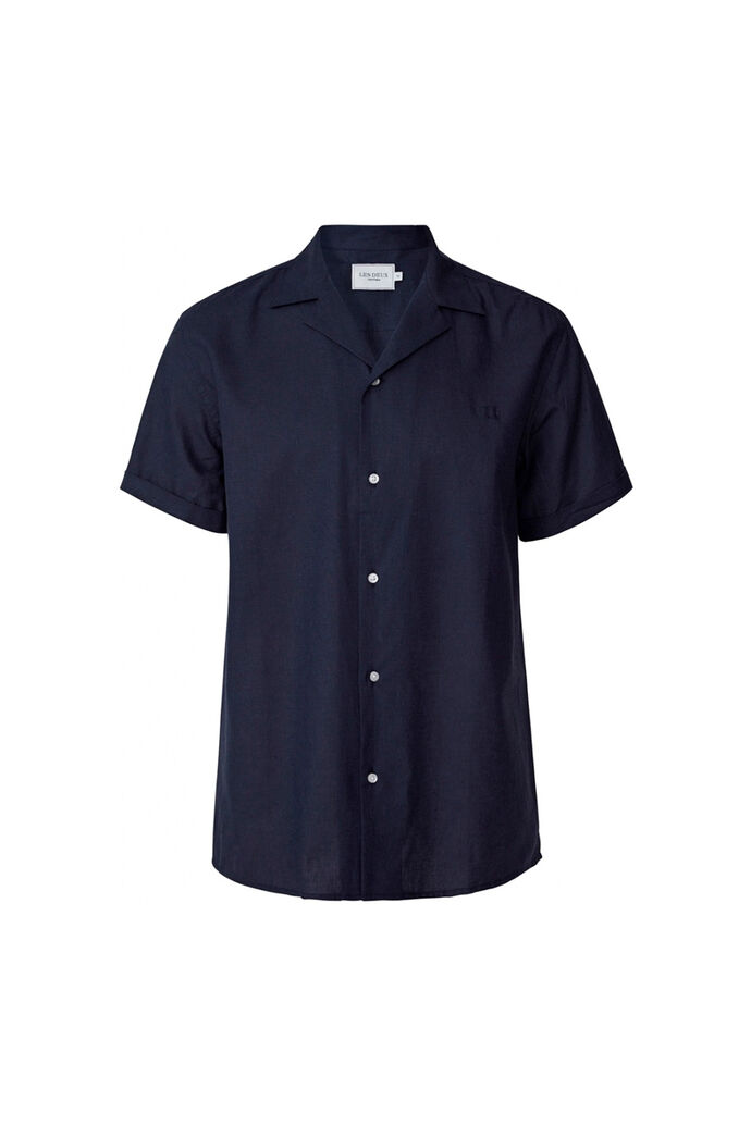 Simon linen shirt LDM401006, DARK NAVY