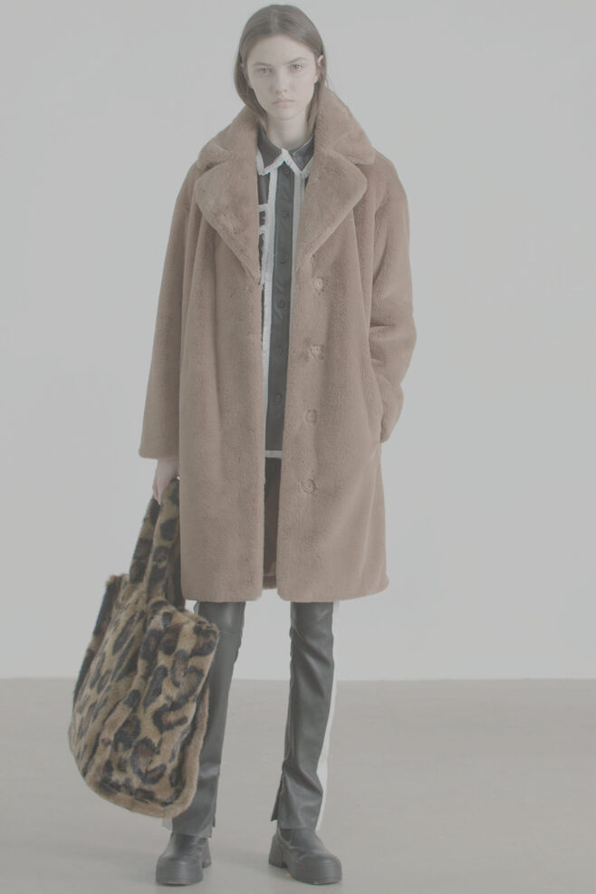Camille coat 60664-8950, TAUPE