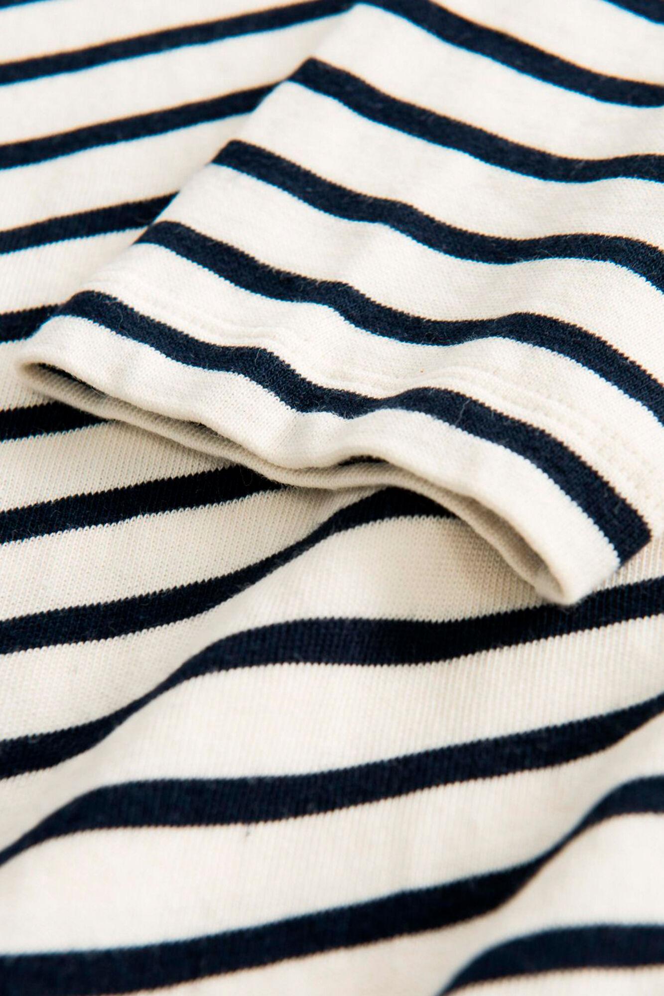 Moa long sleeve, OFF-WHITE/NAVY STRIPES
