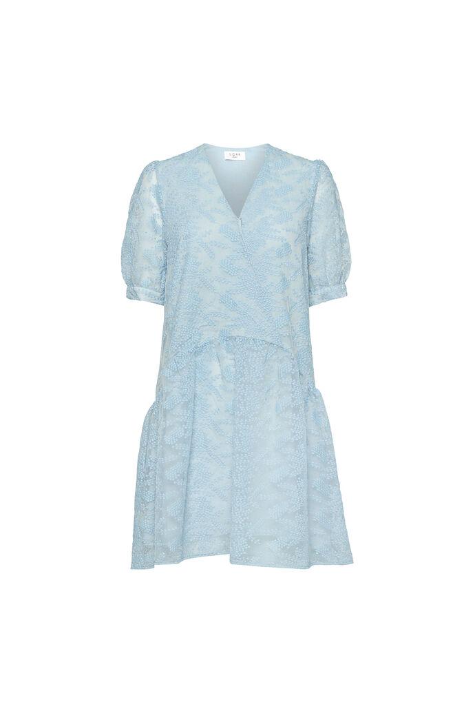 Leaf ss dress, LIGHT BLUE