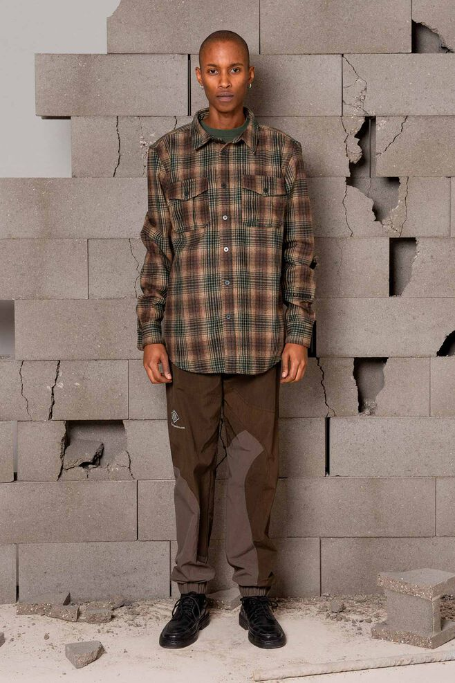 Garden shirt M-120014, TAN TARTAN