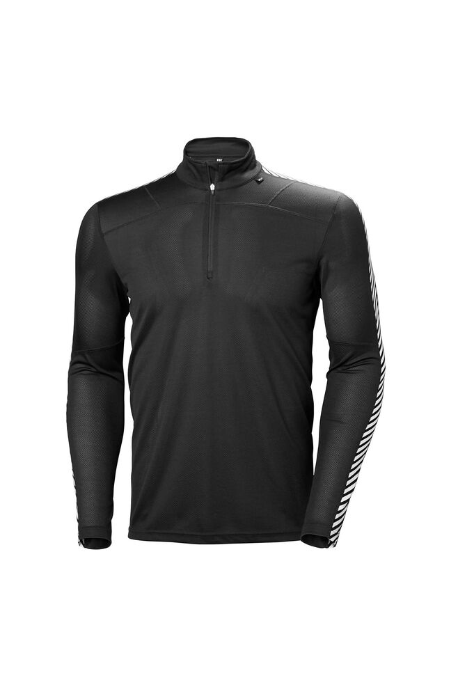 HH lifa 1/2 zip 48302, BLACK