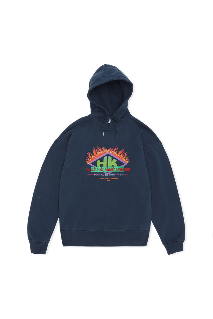 Bulky hoodie M-130153, FADED NAVY