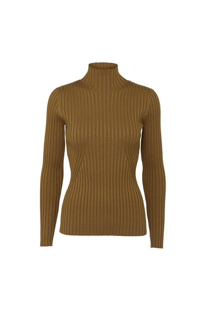 Karlina knit top 11861413, BROWN