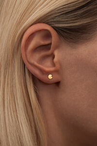 Lily ear Stud LULUE205, GOLD PLATED MATTE