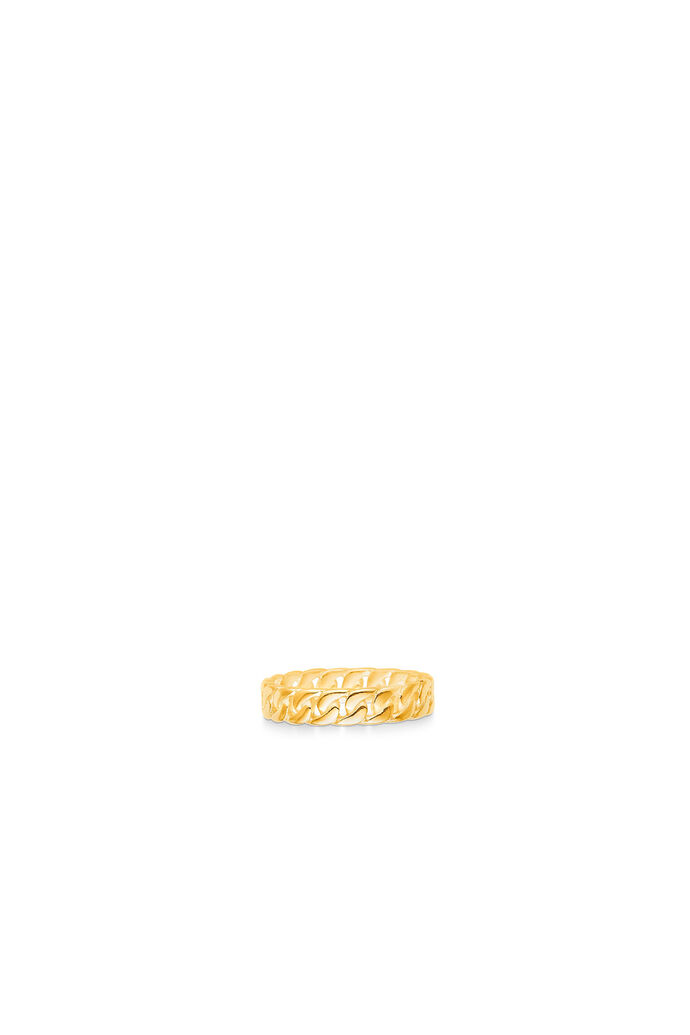 Curb chain ring small, GOLD